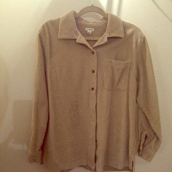 f654c728121 L.L. Bean Tops - LLbean Comfort Corduroy Big Shirt